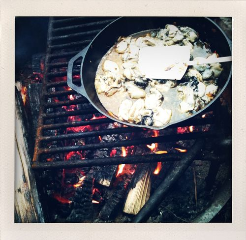 Oyster grilling